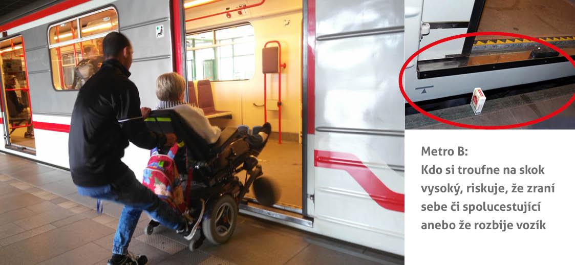Metro B není bezbariérové